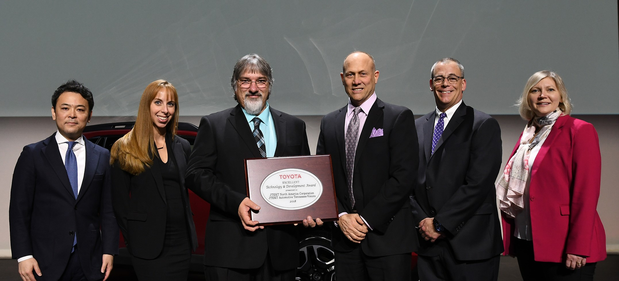 JTEKT NORTH AMERICA'S VONORE, TN FACILTY RECEIVES TOYOTA AWARD